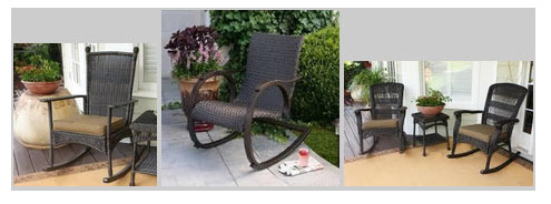 Rocking chairs for the porch