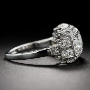 Art-deco-Diamond-Three-Stone-Ring