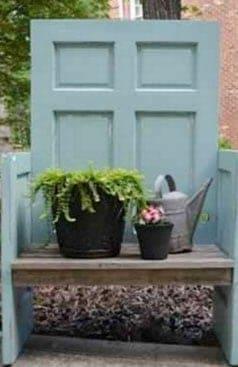 antique-doors-garden-bench