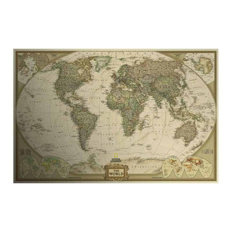 Vintage world map poster vxotic vintage world map poster sale gumiabroncs Choice Image