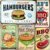 Vintage Metal Tin Signs – Meat