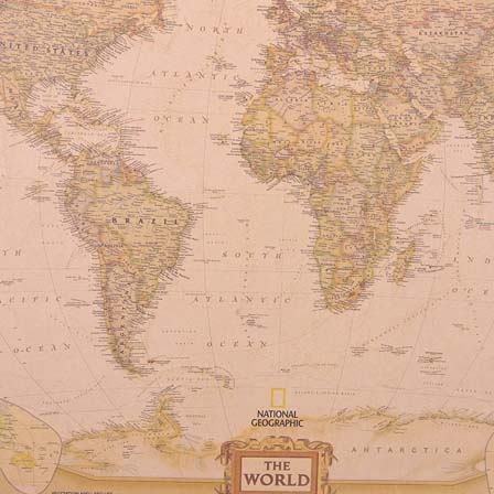 Vintage World Map Poster - Vxotic - Vintage Home Decor | Furniture ...