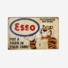 ESSO Vintage Tin Sign – 'Put A Tiger In Your Tank'