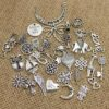 Assorted Antique Silver European Pendant Charms (100pcs/lot)