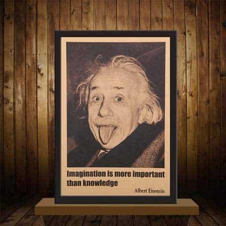Vintage Albert Einstein Poster