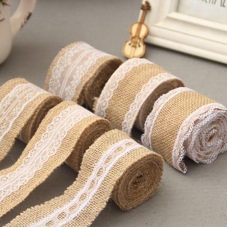 vintage jute/burlap ribbon laces