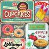 Vintage Metal Tin Signs – Desserts