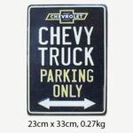 Vintage Chevy Truck Parking Only Tin Sign