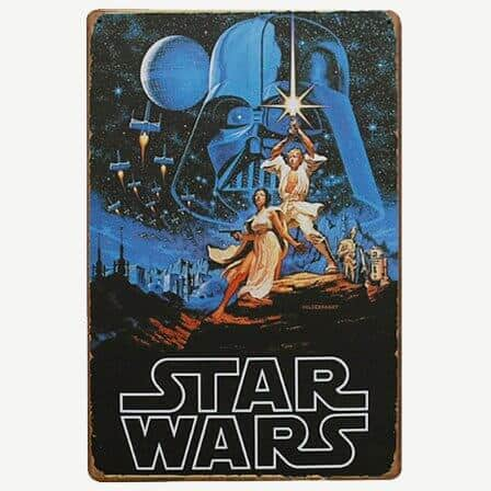 Vintage Star Wars Tin Sign