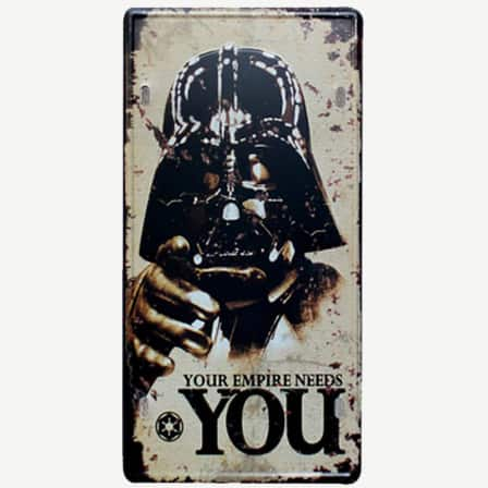 Vintage Star Wars Darth Vader Tin Sign