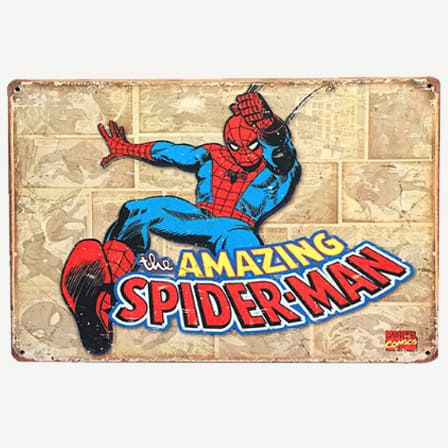 Vintage Amazing Spiderman Tin Sign
