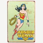 Vintage Wonder Woman Tin Sign