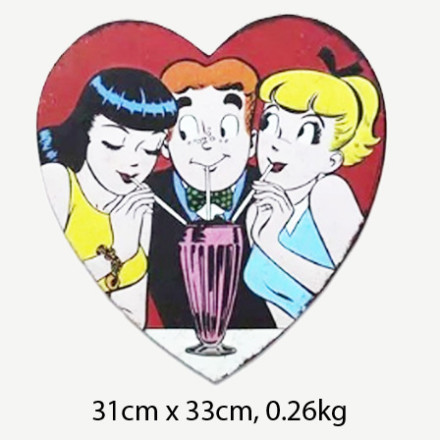 Vintage Archie Betty Veronica Comic Tin Sign