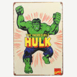 Vintage The Incredible Hulk Tin Sign