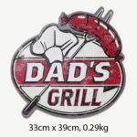 Vintage Dad's Grill Tin Sign