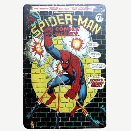 Vintage Spiderman Tin Sign