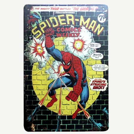Vintage Spiderman Tin Sign