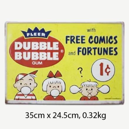 Vintage Dubble Bubble Gum Tin Sign