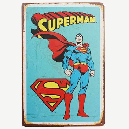 Vintage Superman Tin Sign