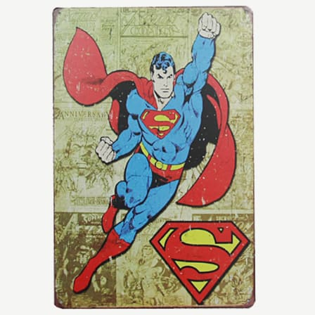 Vintage Superman Tin Sign
