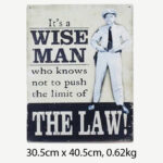 Vintage It's a Wise Man Tin Sign