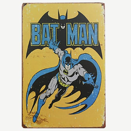 Vintage Batman Tin Sign