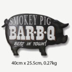 Vintage Smokey Pig BarBQ Tin Sign