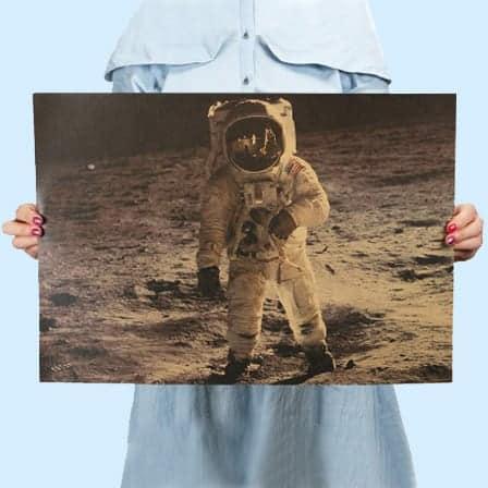 Vintage The Apollo 11 Moon Landing Poster