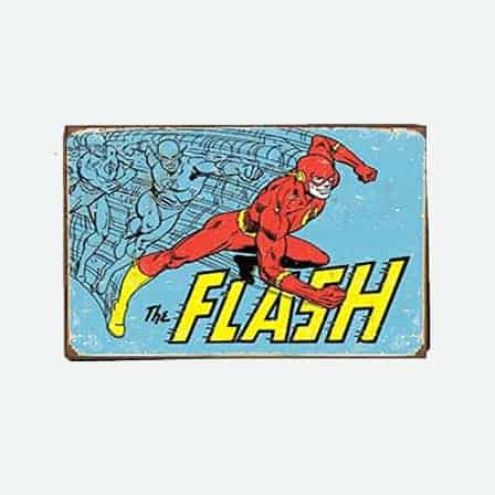 super heroes The Flash vintage tin sign