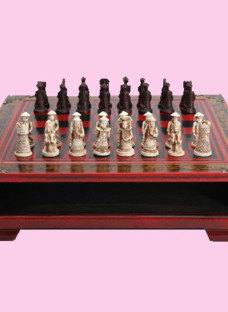 Vintage Chinese Collectible Chess Set