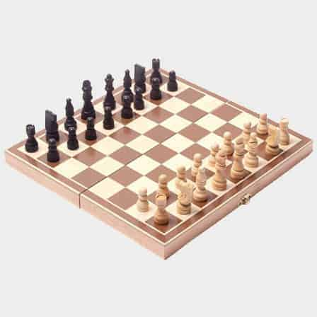 Vintage Hand Carved Wooden Chess Set