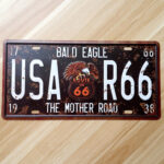 Vintage Metal Car Number Plate