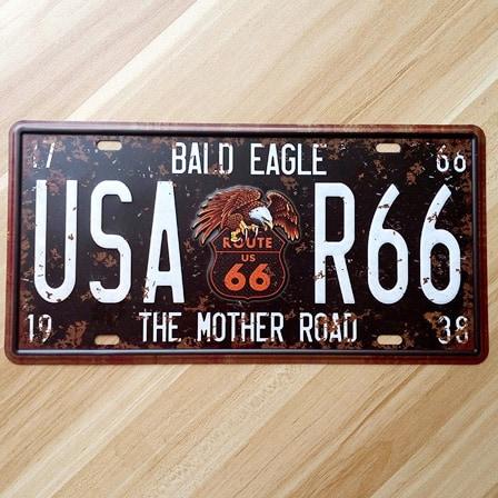 Vintage Metal Car Number Plate