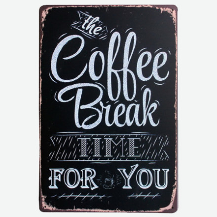 Vintage Metal Tin Signs – Coffee 2-2