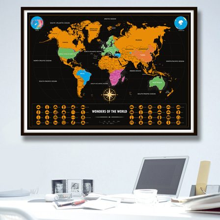 Vintage travel world map poster scratchable vxotic vintage vintage travel world map poster scratchable previous gumiabroncs Image collections