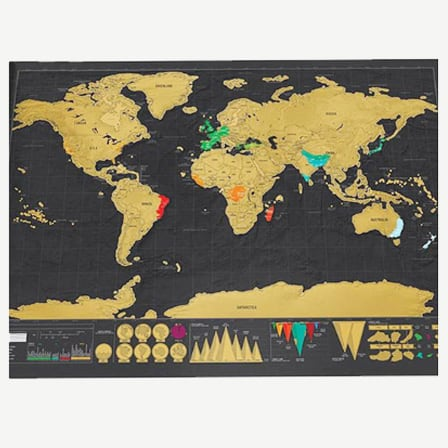 Vintage Travel World Map Poster