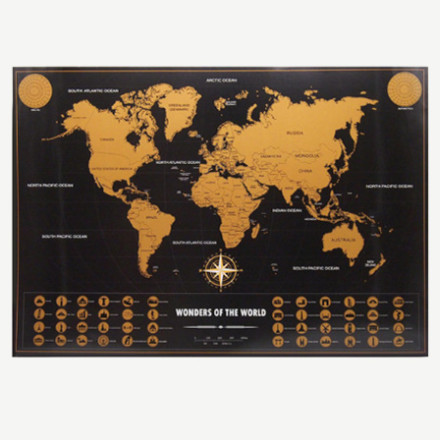 Vintage Travel World Map Poster3