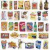 Retro Food Stickers (Set 1)