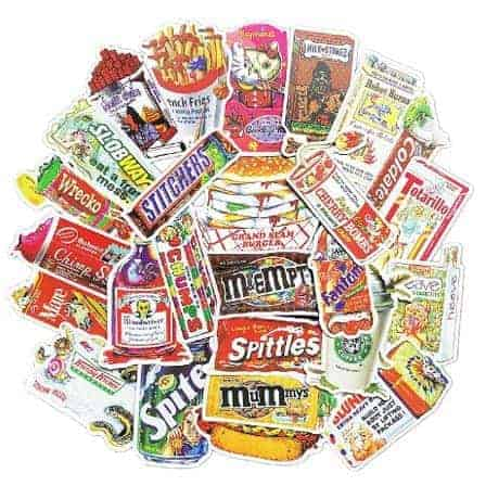 Retro Food Stickers