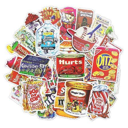 Retro Food Stickers