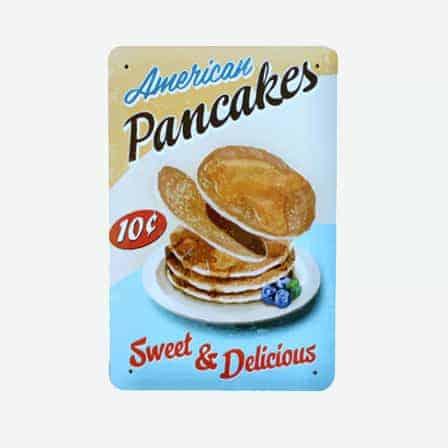 American pancakes tin sign