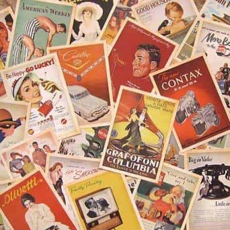vintage advertisement postcards