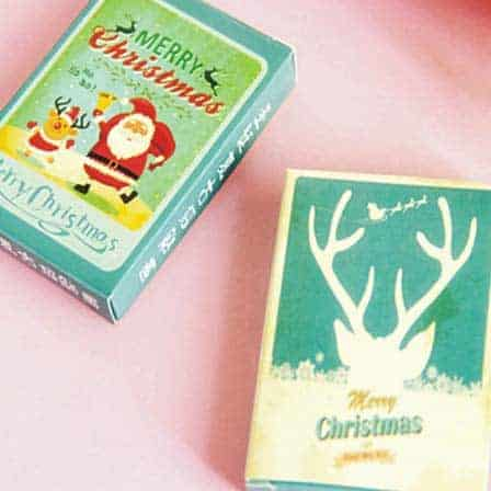 vintage Christmas play cards