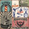 Vintage Metal Tin Signs – Barber Shop