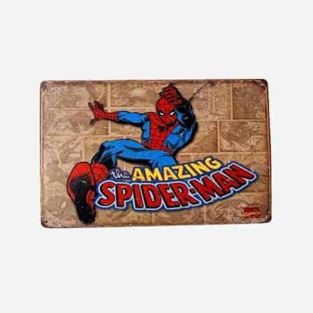super heroes Amazing Spiderman vintage tin sign