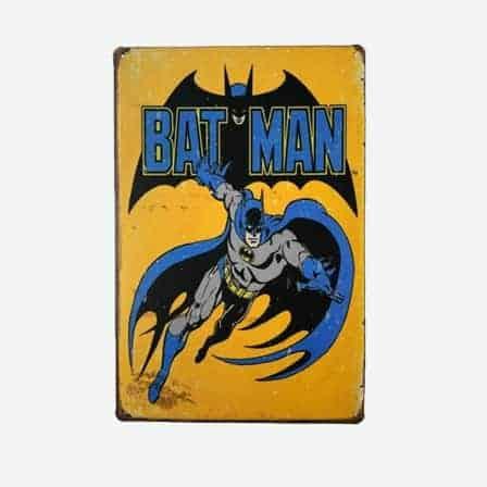 super heroes Batman vintage tin sign